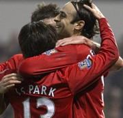 A Manchester United-játékosok öröme
