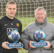 Nemanja Vidic és Sir Alex Ferguson