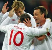 Peter Crouch, Wayne Rooney és John Terry