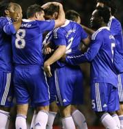 A Chelsea-játékosok öröme