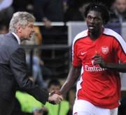 Arsene Wenger és Emmanuel Adebayor