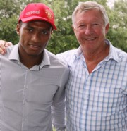 Antonio Valencia és Sir Alex Ferguson