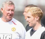 Sir Alex Ferguson és Paul Scholes